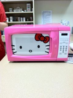 Hello Kitty microwave oven pink face