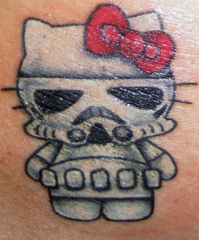 Hello Kitty Stormtrooper Tattoo
