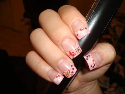 hello kitty nail painting