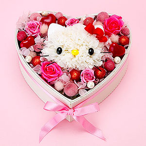 Hello Kitty heart flower
