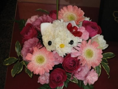 Hello Kitty flower bouquet
