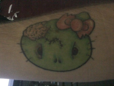 hello kitty zombie tattoo