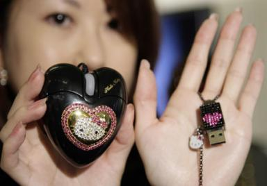 Hello Kitty mouse memory stick