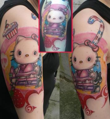 Hello Kitty Space Tattoo