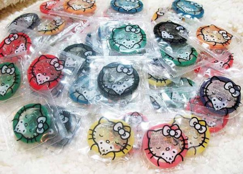 hello kitty flavored condoms