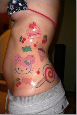 Hello Kitty candy tattoo