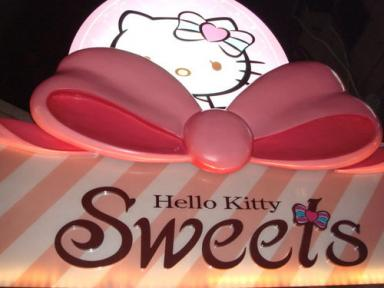 Hello Kitty Sweets sign