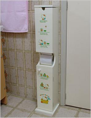 Hello Kitty toilet paper cabinet
