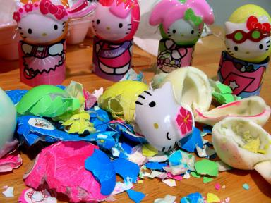 Hello Kitty Easter egg massacre
