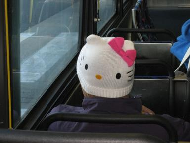 Hello Kitty snow cap