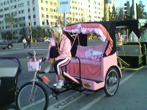 Hello Kitty pedicab