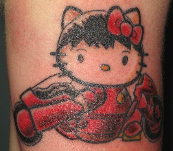 Hello Kitty Shotaro Kaneda tattoo