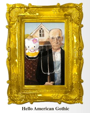 Hello Kitty American Gothic
