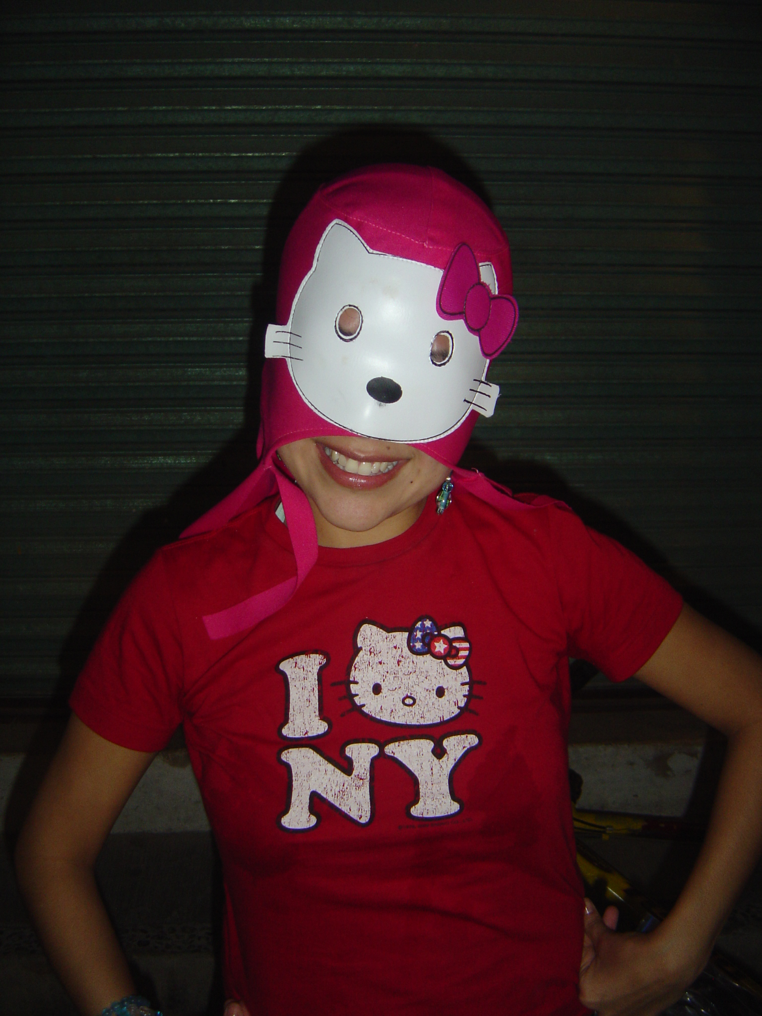 Hello Kitty wrestling mask