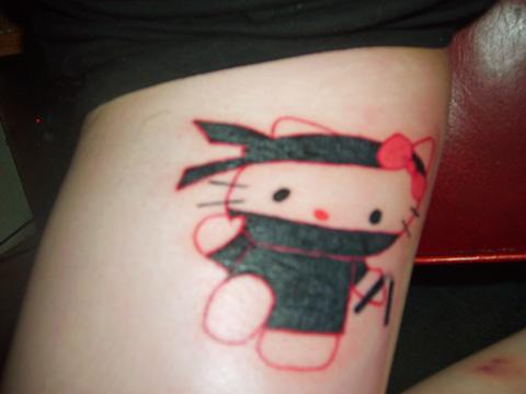 Hello Kitty ninja tattoo