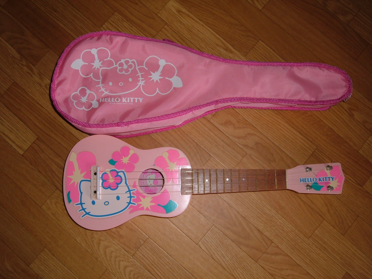 Hello Kitty ukulele and bag