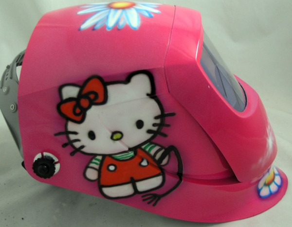 Hello Kitty welding mask