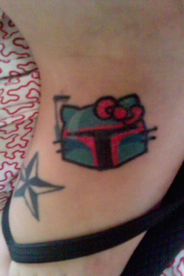 hello kitty boba fett tattoo