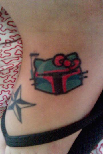hello kitty boba fett tattoo