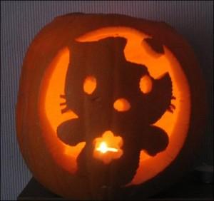Hello Kitty ghost pumpkin