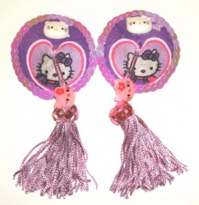 Hello Kitty heart nipple tassels