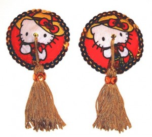 Hello Kitty cowboy nipple tassels