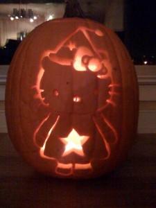 Hello Kitty witch pumpkin