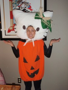 Hello Kitty pumpkin costume