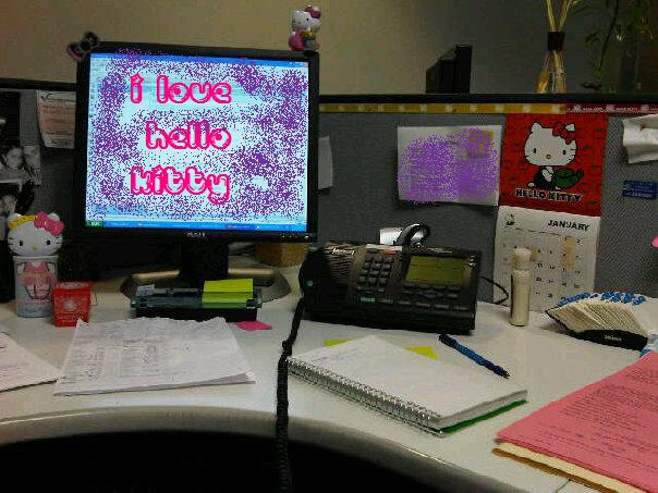 decorate office cubicles office holiday decor.htm hello kitty desk     hello kitty hell  hello kitty desk     hello kitty hell