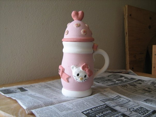 Hello Kitty beer stein