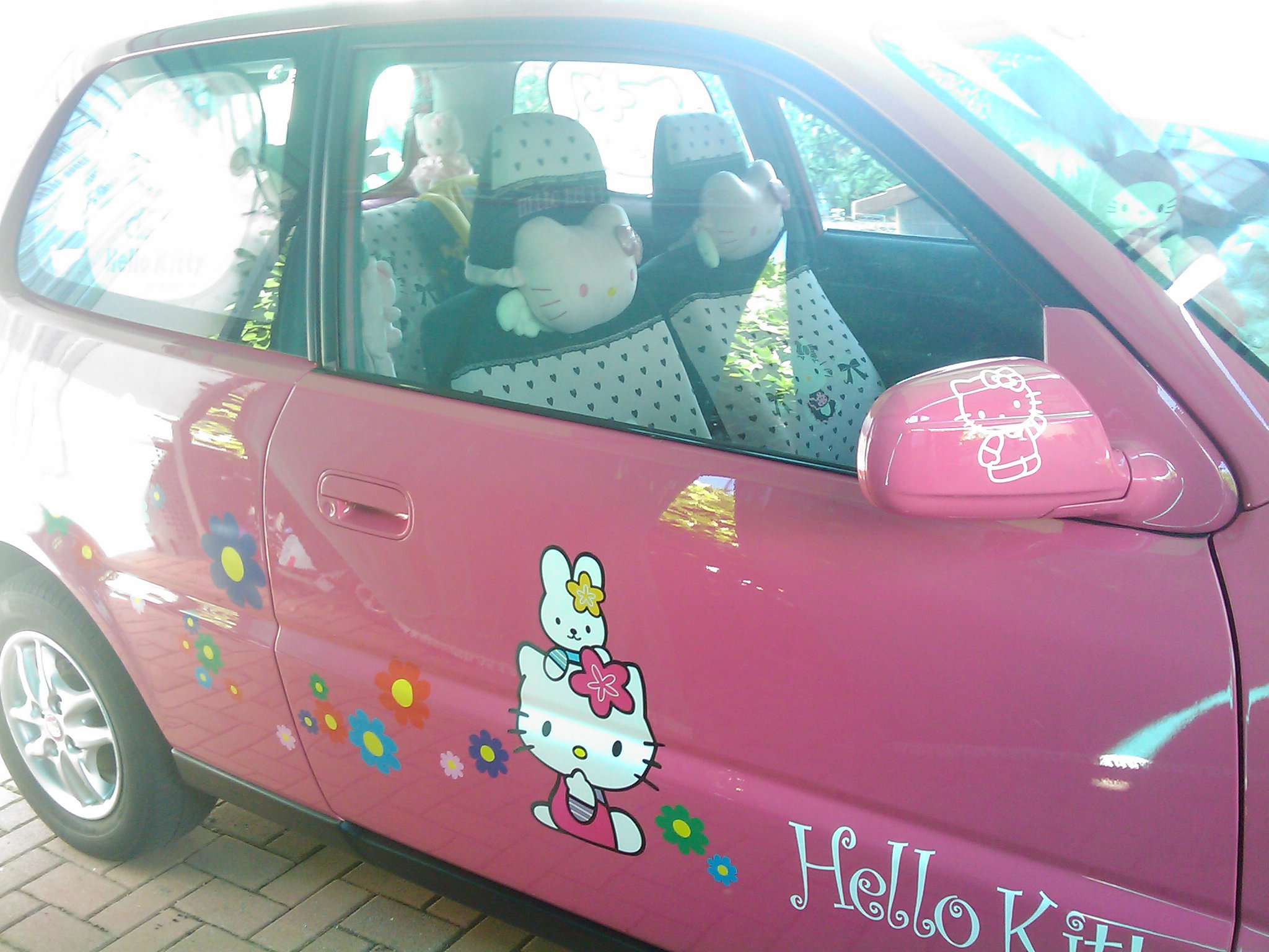 Hello Kitty Car Pink