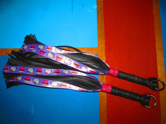 Hello Kitty leather flogger
