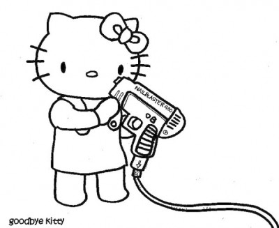 Hello Kitty Goodbye Kitty nail gun