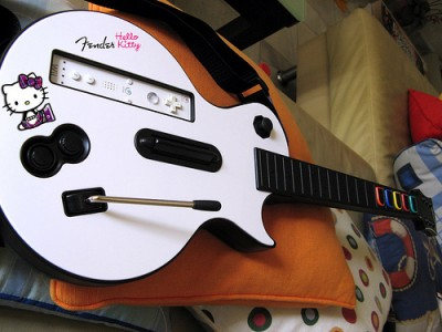 Hello Kitty guitar hero wii mod