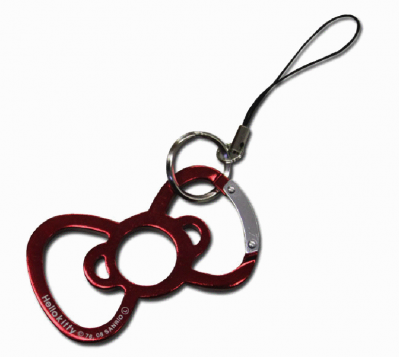 Hello Kitty carabiner bow