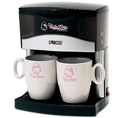 Hello Kitty 2 cup coffee maker