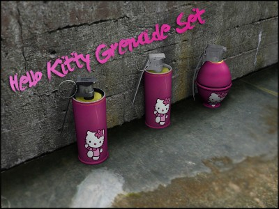 Hello Kitty hand grenades