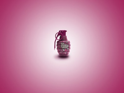 Hello Kitty hand grenade