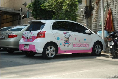 Hello Kitty Minivan