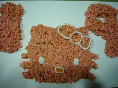 Hello Kitty Rice Krispies Treats
