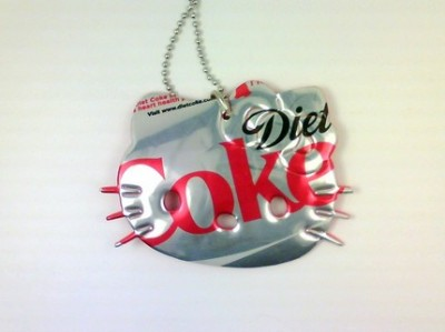 Hello Kitty Diet Coke necklace