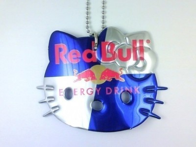Hello Kitty Red Bull necklace