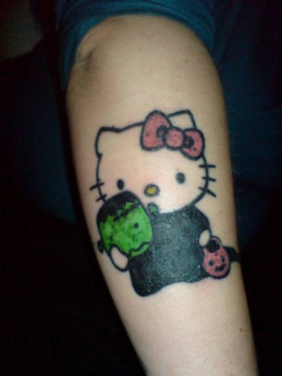 Hello Kitty Halloween tattoo