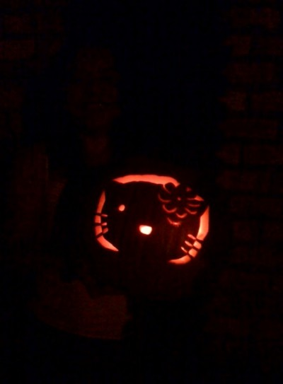 Hello Kitty Jack-o-Lantern