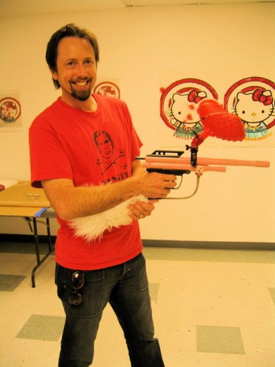 Hello Kitty paintball gun