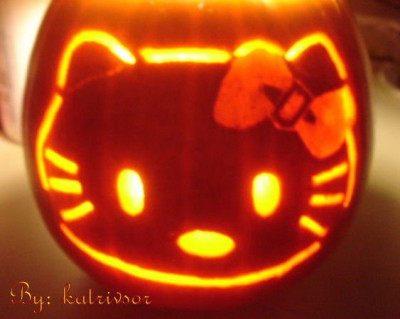 Hello Kitty pumpkin 2006