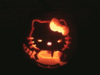 Hello Kitty samurai pumpkin