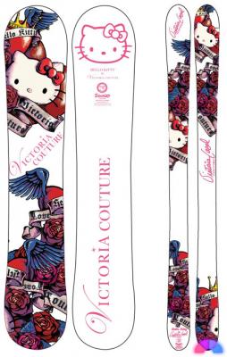 Hello Kitty snowboard Victoria Couture