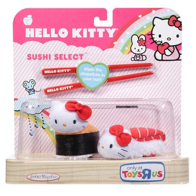 Hello Kitty sushi roll plush