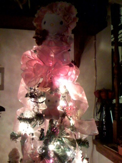 hello kitty Christmas tree topper